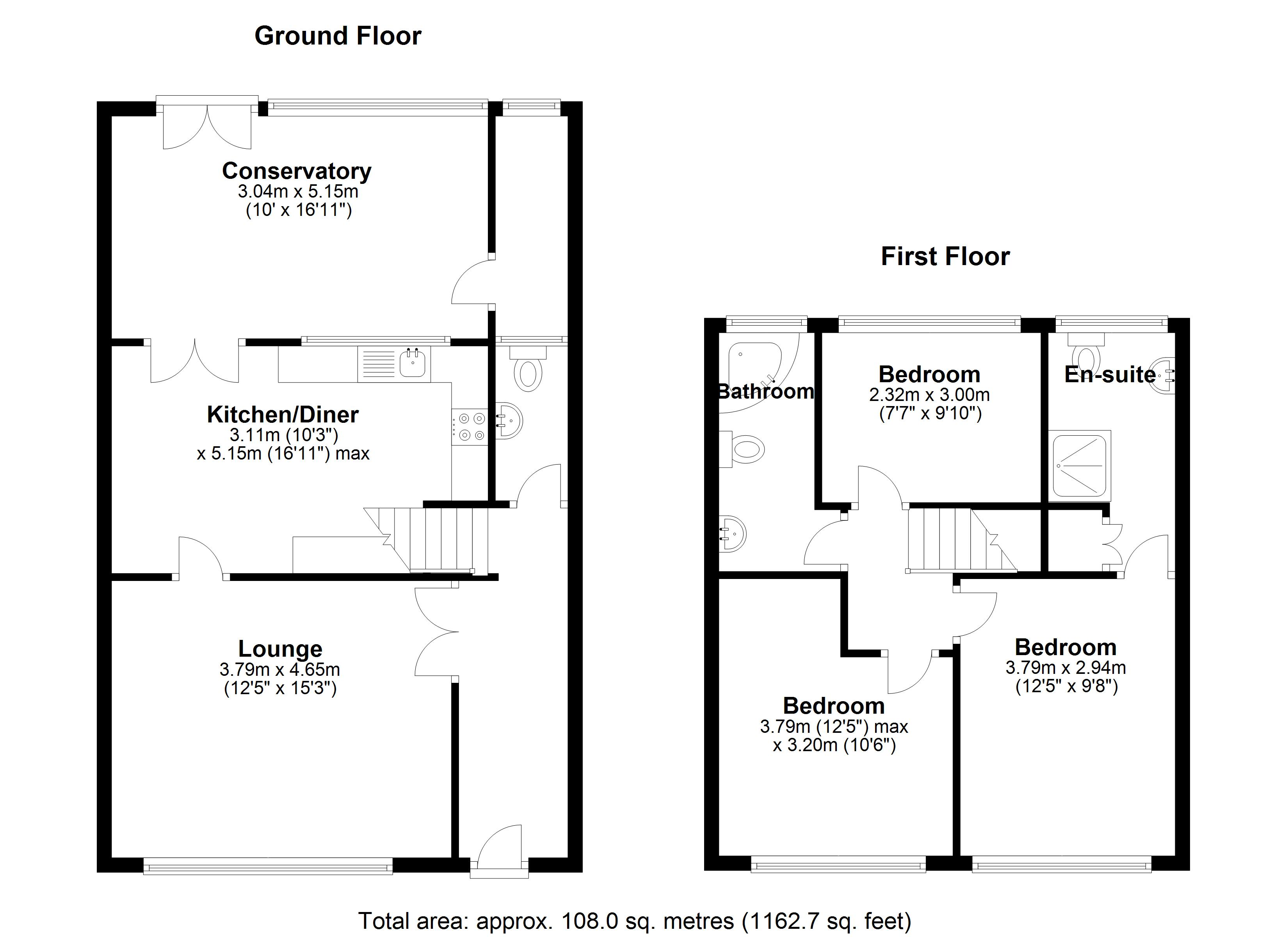 Floorplan for Walsgrave Drive, Solihull