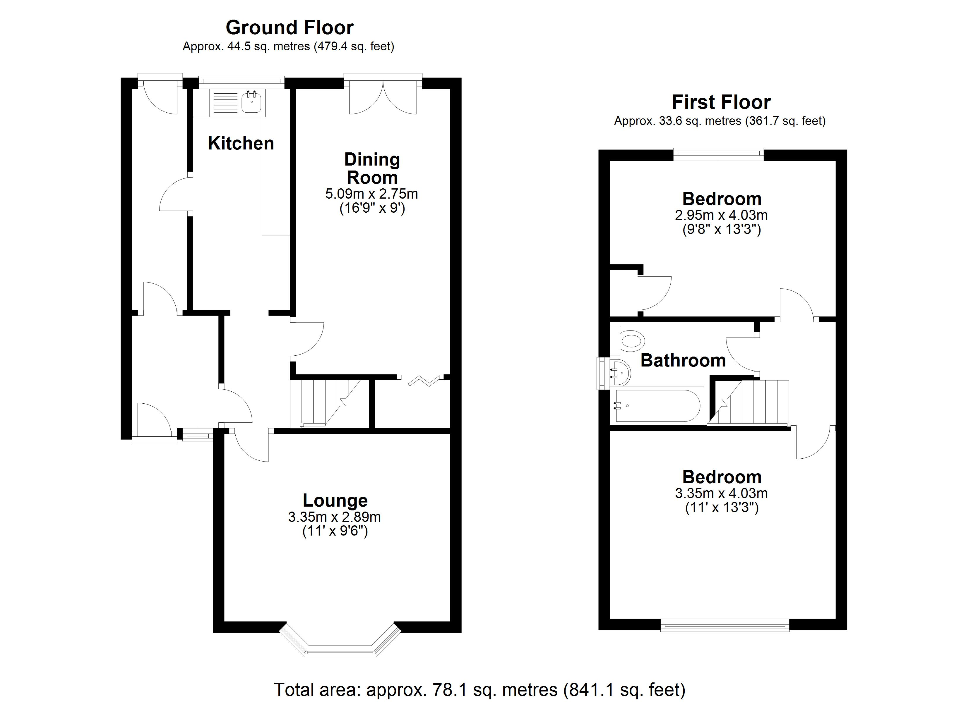 Floorplan for Richmond Road, Solihull