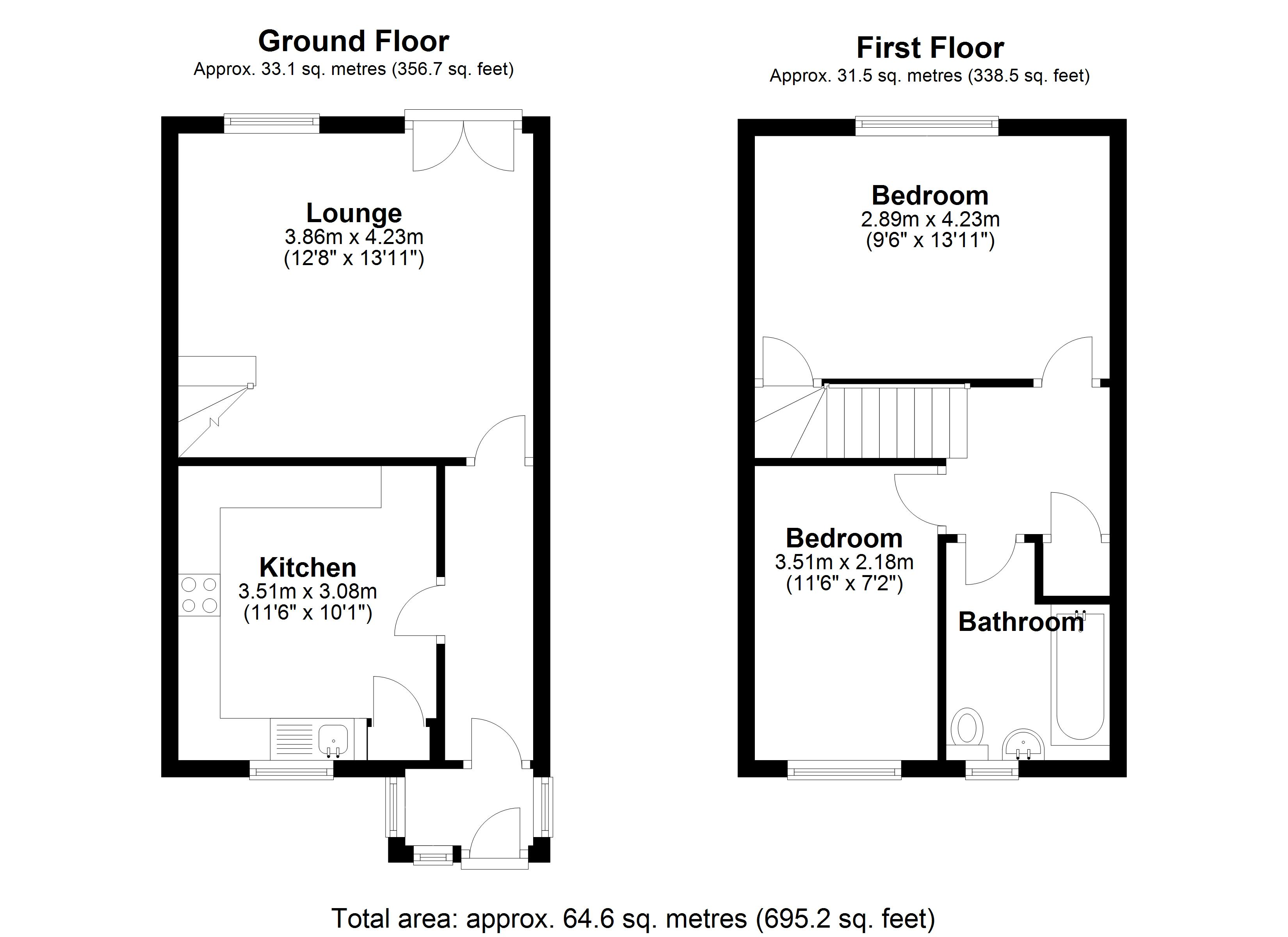 Floorplan for Hertford Way, Solihull