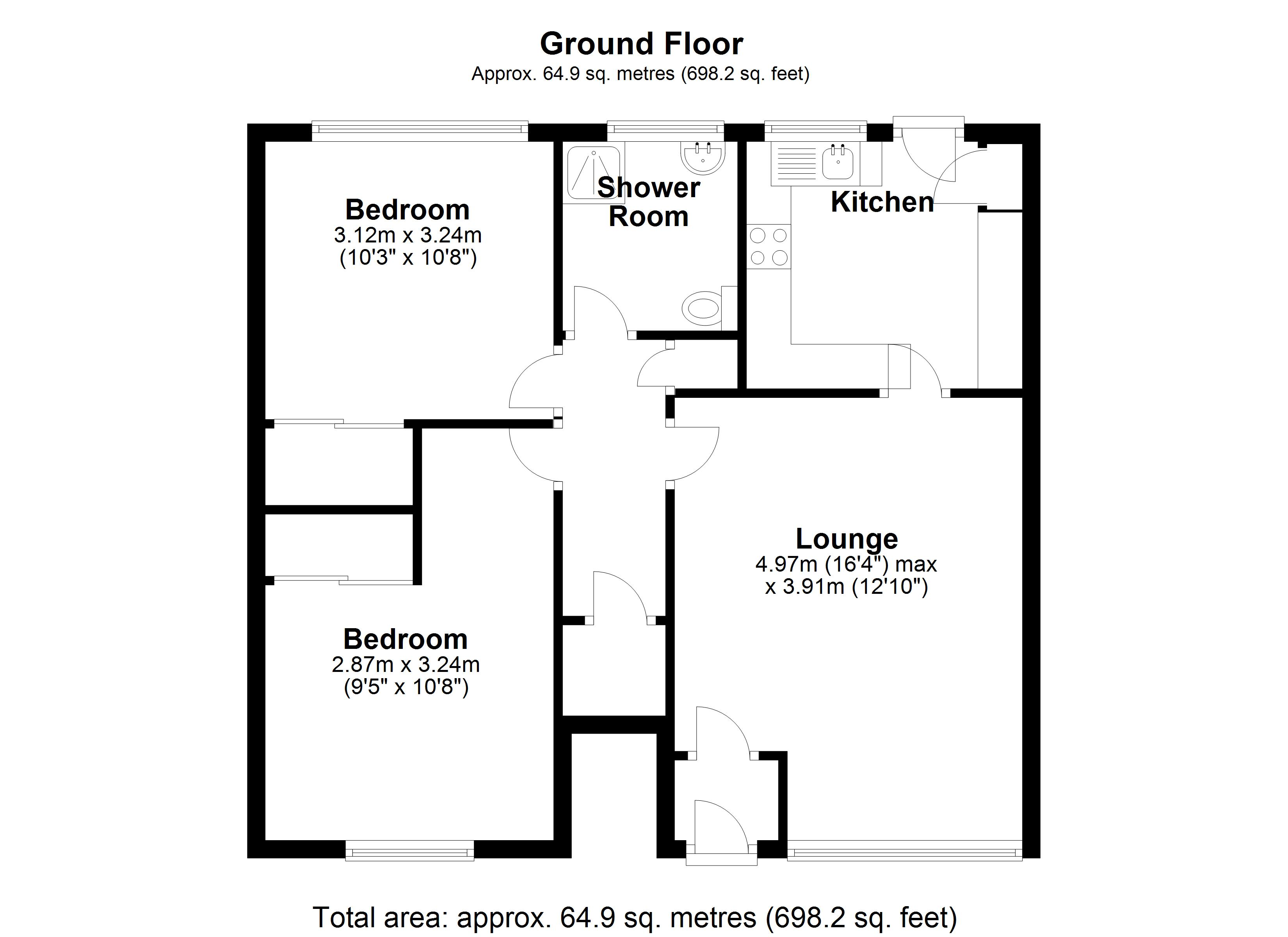 Floorplan for Grangewood Court, Solihull