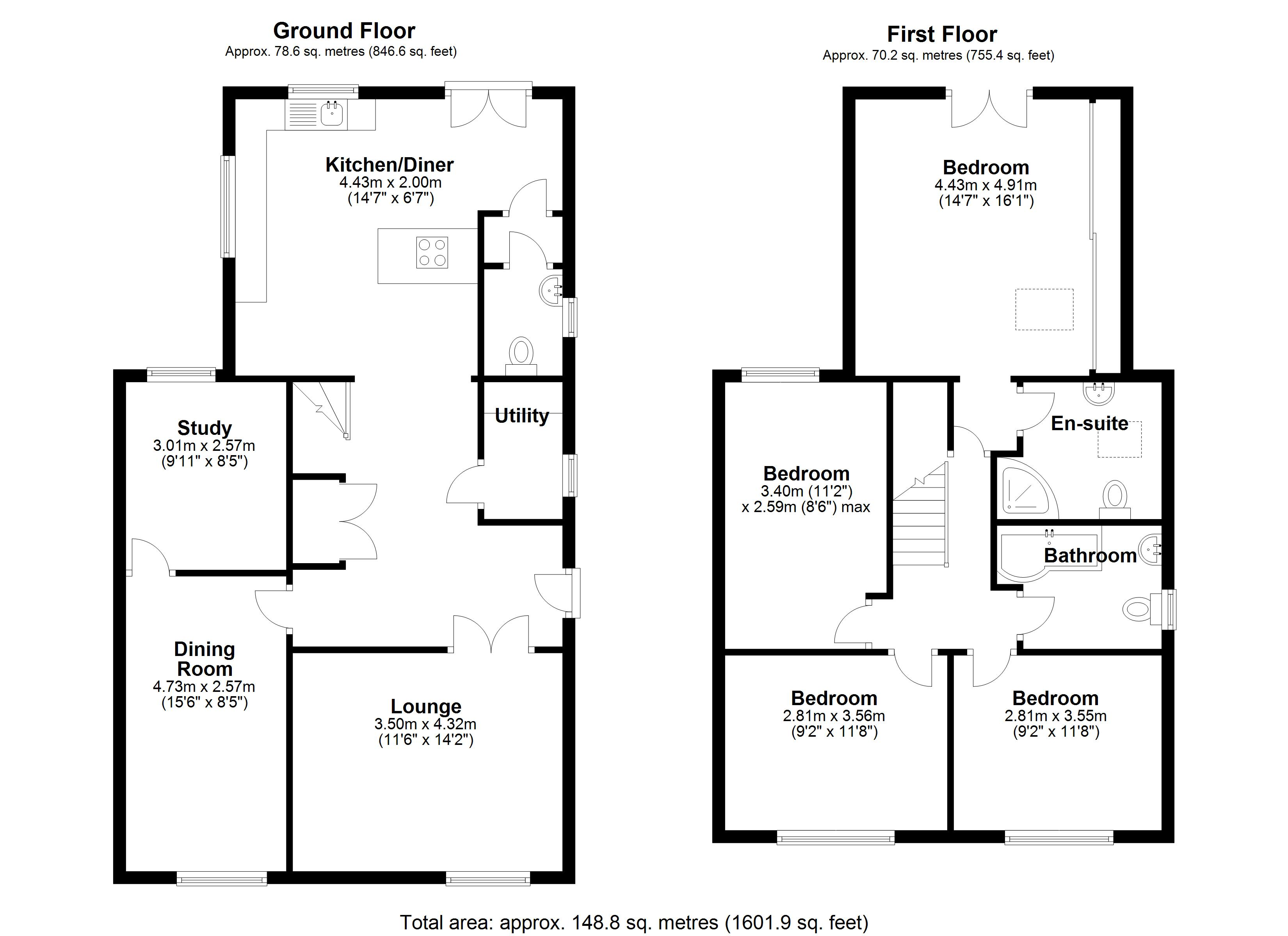 Floorplan for Bennetts Road South, Coventry