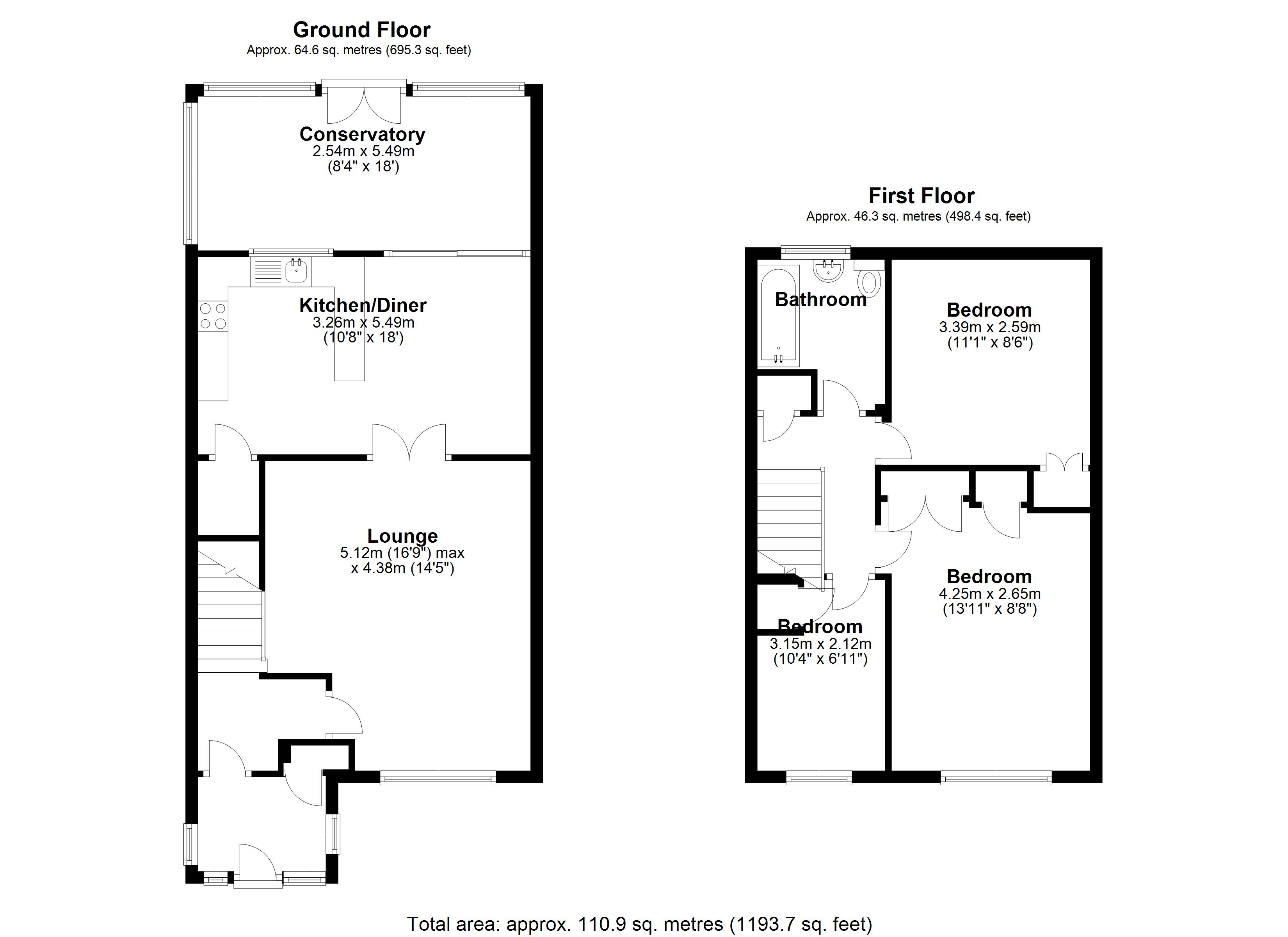 Floorplan for Stockwell Rise, Solihull