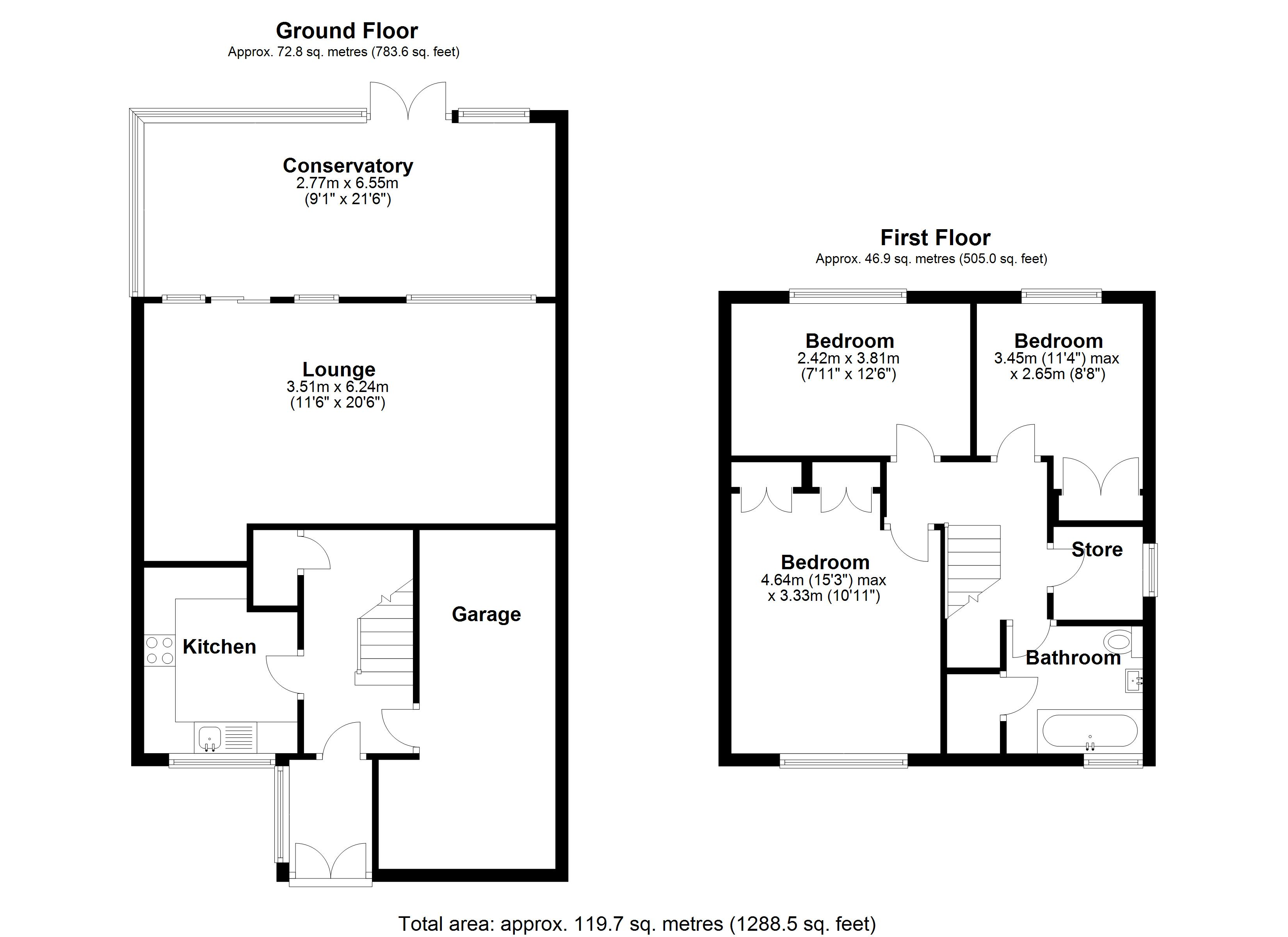 Floorplan for Langley Hall Road, Solihull