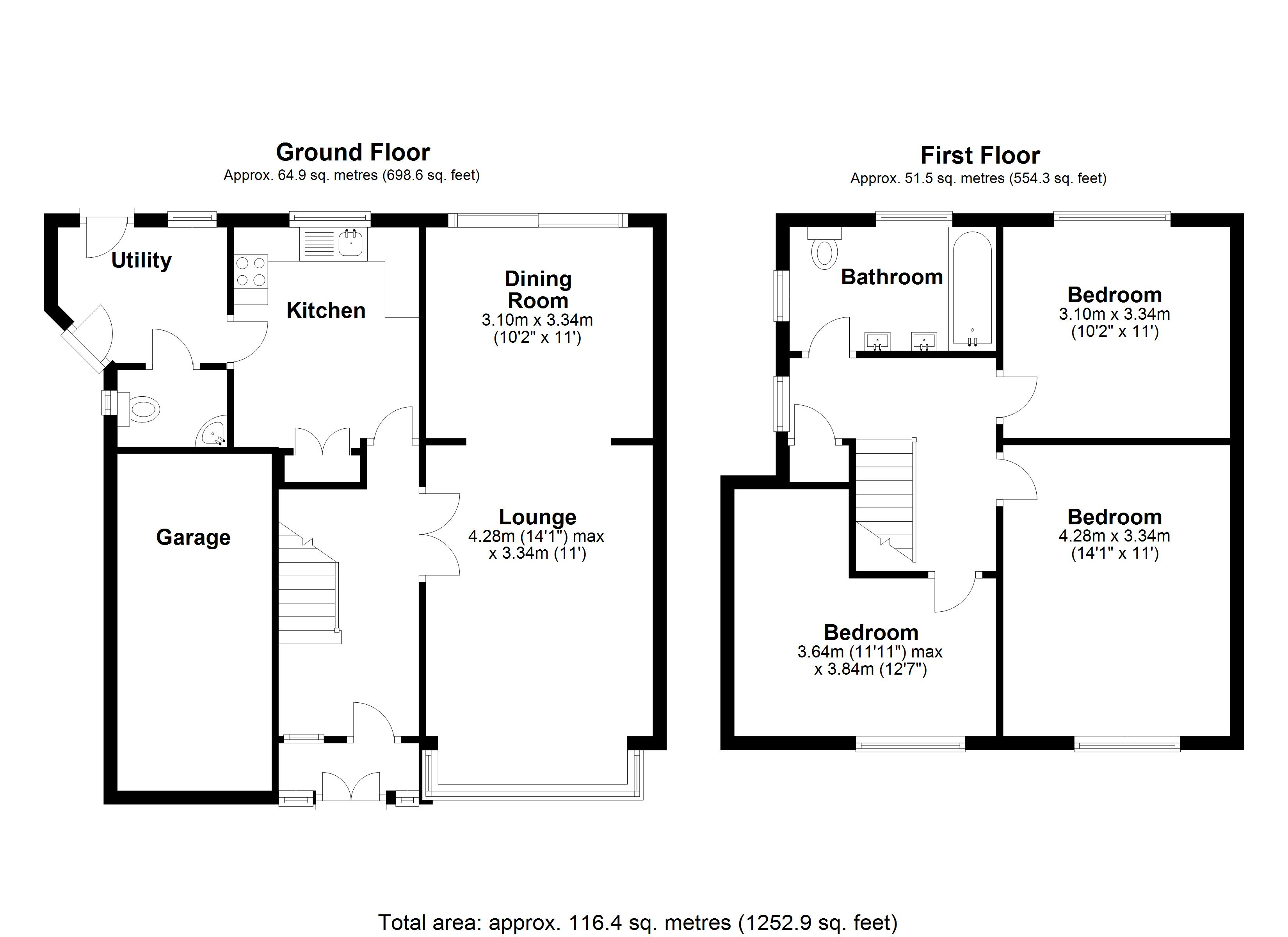 Floorplan for Willow Road, Solihull