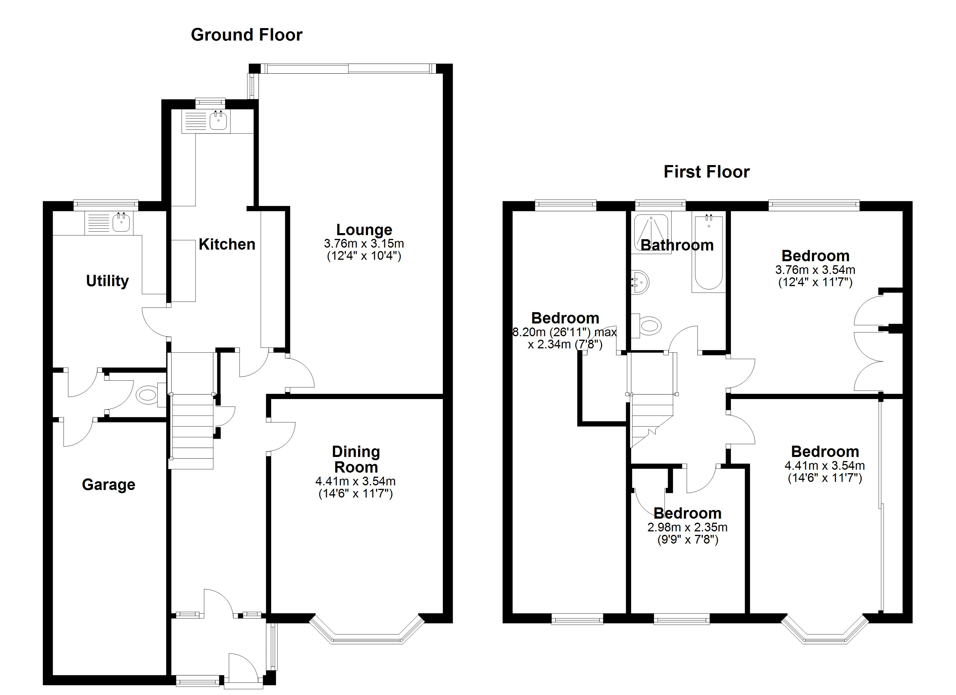 Floorplan for Cheltondale Road, Solihull
