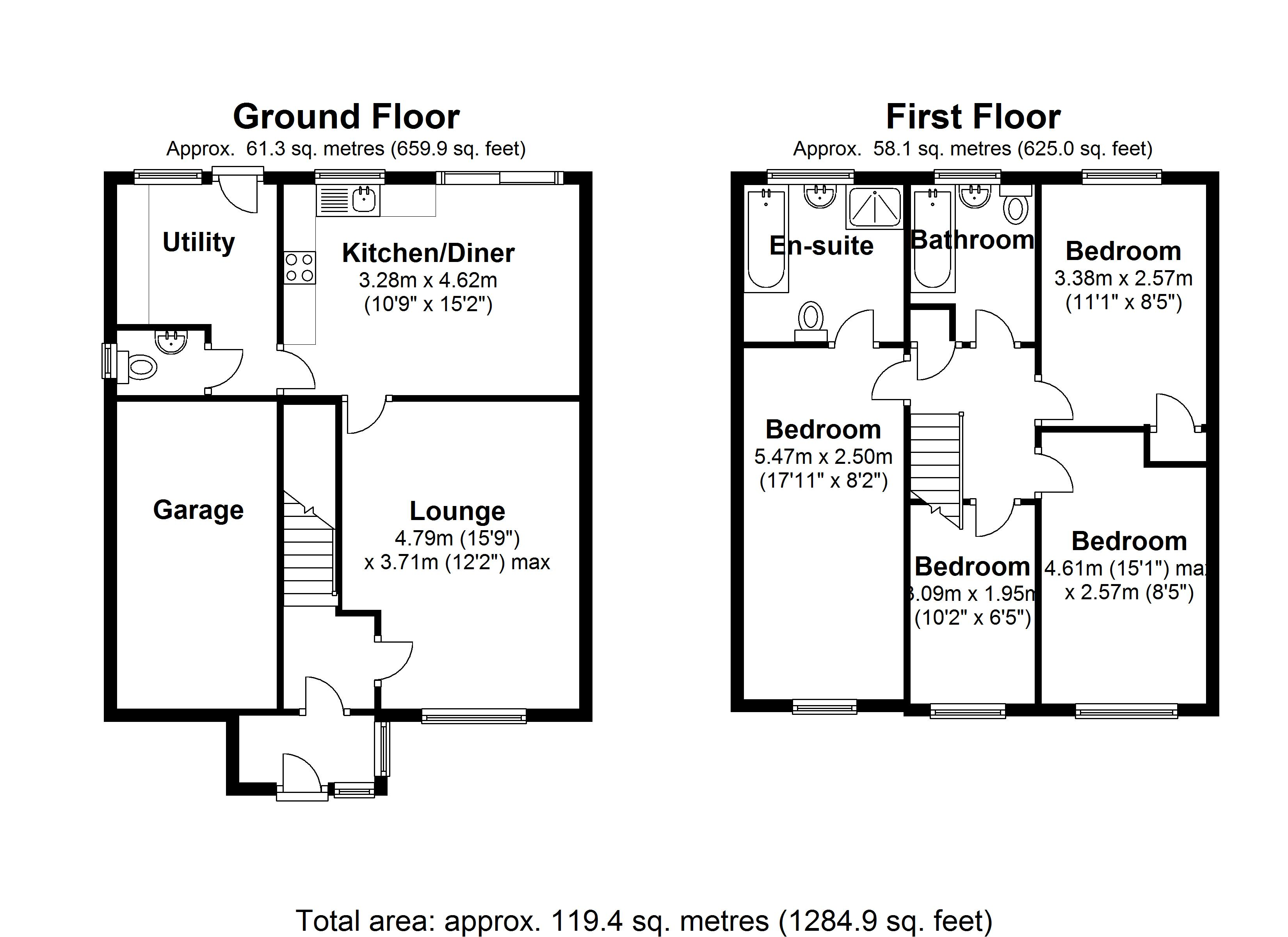 Floorplan for Hargrave Road, Solihull